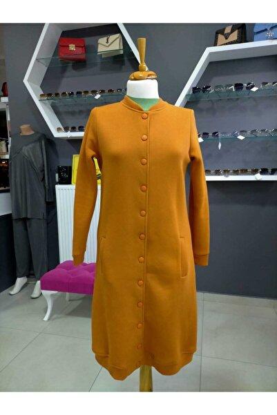 ALLDAY Kadın Sarı Çıtçıtlı Hırka