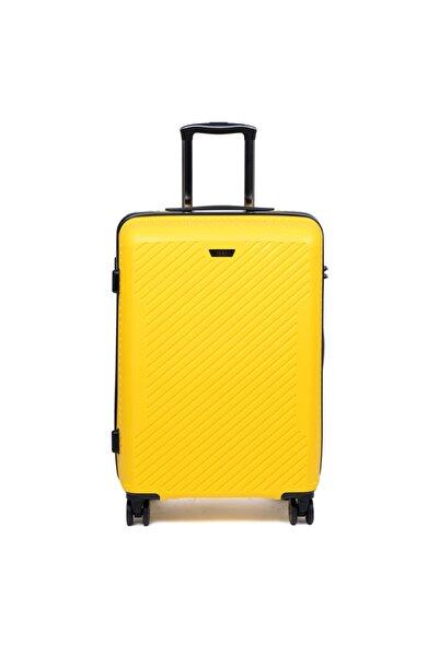 Tergan Sarı Orta Boy Valiz 45524d92