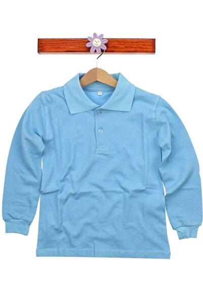 Nacar Çocuk Mavi Uzun Kollu Lakos Tşört