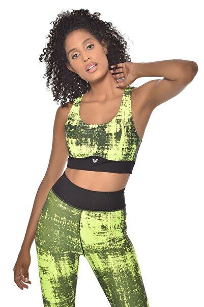 bilcee Neon Yeşil Kadın Sporcu Sütyeni-bra Gw-9227