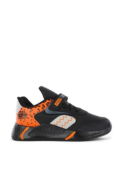 FREE MARKA Unisex Çocuk Siyah Turuncu Mevsimlik Ayakkabısı