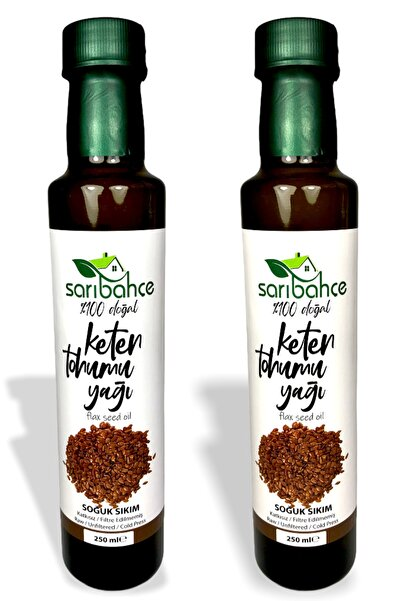 Sarıbahçe Keten Tohumu Yağı (Soğuk Sıkım) 250 ml 2'li Paket