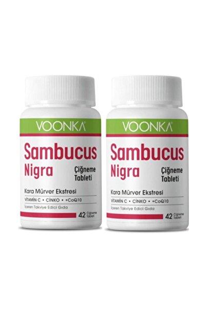 Voonka Sambucus Nigra 42 Çiğneme Tableti Kara Mürver Ekstresi Vitamin C Çinko Coq10 2 Adet