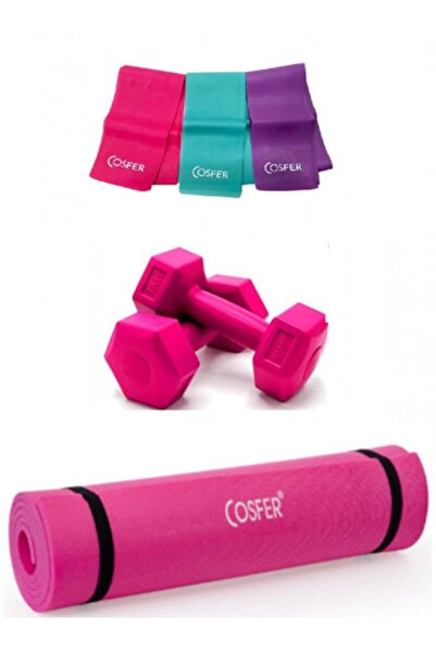 Cosfer 3 Lü Pilates Seti 6,5 Mm Mat
