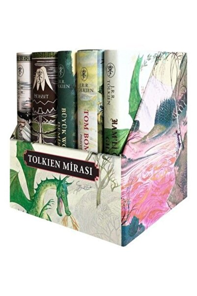 İthaki Yayınları Tolkien Mirası Seti 5 Kitap Takım Kutulu Ciltli 5 Kitap