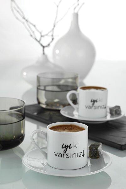 Kütahya Porselen Iyi Ki Varsın Kahve Takımı