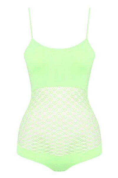 Emay Kadın Neon Yeşil Fantezi  Body 5041