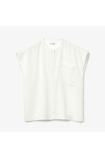 Lacoste Kadın Hakim Yaka Kolsuz Beyaz Gömlek