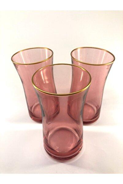 Rakle Neo Pembe Renkli Uzun Meşrubat Bardağı 3'lü
