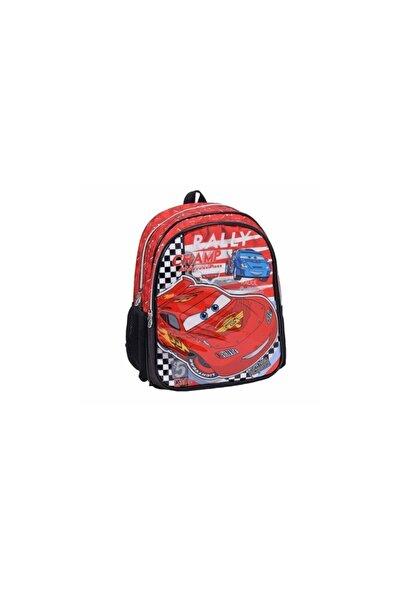 CARS Unisex Çocuk Kırmızı Okul Sırt Çantası 87670