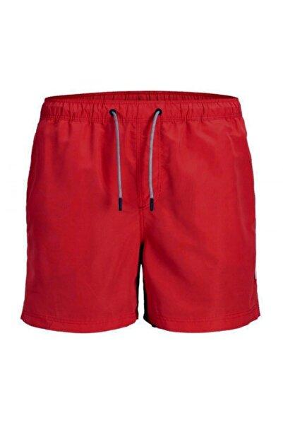 Jack & Jones Erkek Kırmızı Lastikli Deniz Şortu