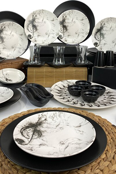 Keramika Melodi 39 Parça 6 Kişilik Kahvaltı Takımı