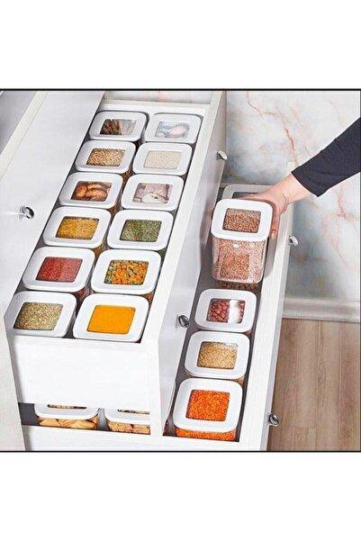 Özc Kitchens Vakum Kapaklı 15'li Erzak Saklama Kabı Seti(1700+1200+900+700+250 Mlx3)