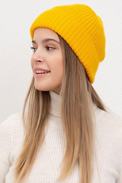 Mossta Kadın Sarı Full Soft Bere