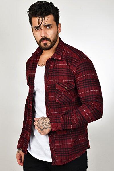 DeepSEA Erkek Bordo Oduncu Gömlek 2101116