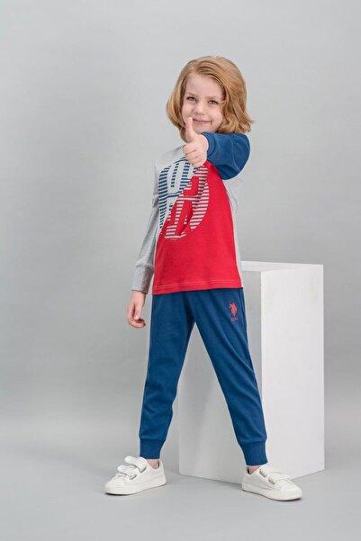 U.S. Polo Assn. Erkek Çocuk  Grimelanj Lisanslı Pijama Takımı