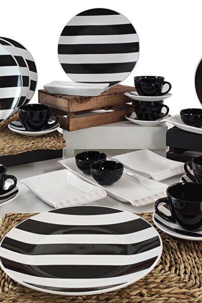 Keramika Simetri 28 Parça 6 Kişilik Kahvaltı Takımı