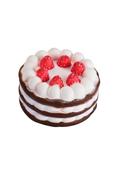 Cimcime Fosq020-2 Sukuşi Squishy Yumuşak Yavaş Yükselen Oyuncak Çilekli Yaş Pasta Çikolata Kremalı