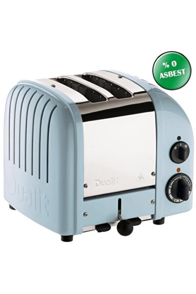 Dualit 2 Hazneli Classic 27036 Buzul Mavi El Yapımı Ekmek Kızartma Makinesi