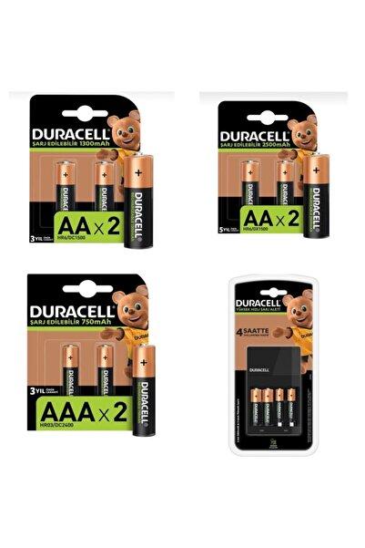 Duracell Cef 14 Pilli Şarj Cihazı (2x1300mah Ve 2x750 Mah)   2x2500 Mah 2x1300 Mah Ve 2x750 Mah Paketi