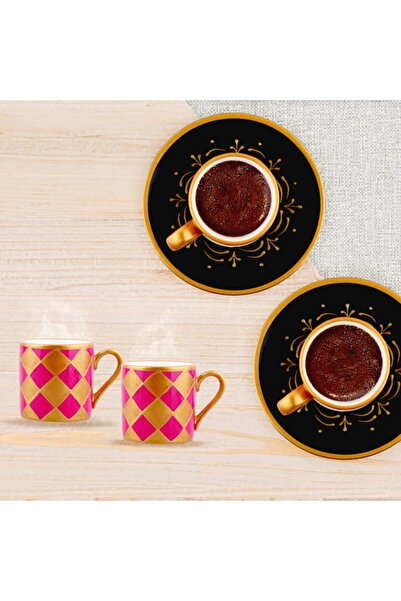 Lucky Art Delusion  6'lı Kahve Fincan Seti