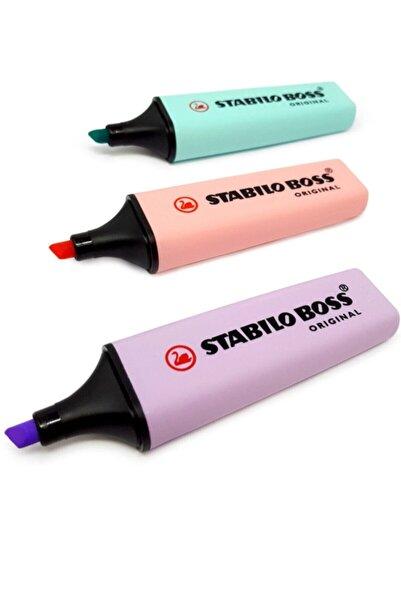 Stabilo Pastel Renkler 3lü Set (mavi-lila-turuncu) Boss Original Pastel Mlt