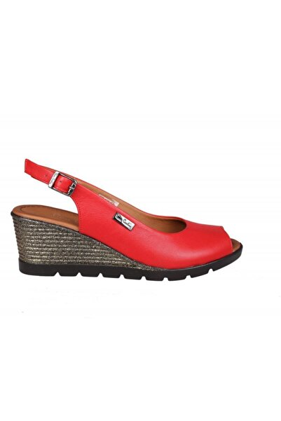 Pierre Cardin Kadın Kırmızı Topuklu Ayakkabı Pc-6031