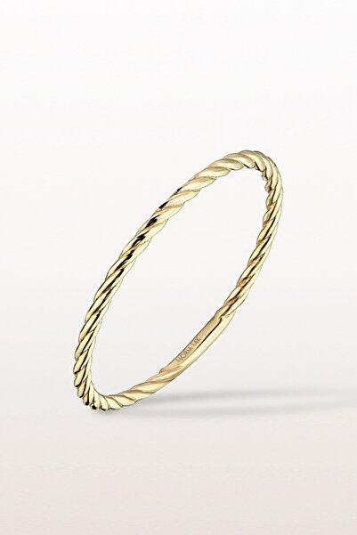 Norm Jewels 14 Ayar Katı Altın Kıvrımlı Yüzük