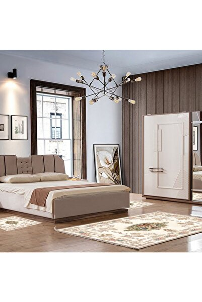 Alanur Home Almira Yatak Odası Halısı 3 Lü Set  80 X 150 + 2 Adet 60 X 100 Al310c037