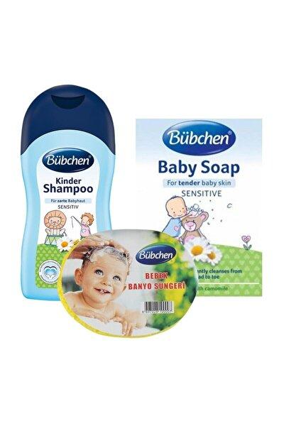 Bübchen 200 Ml. Bebek Şampuanı Sabun Ve Sünger 3 Lü Set