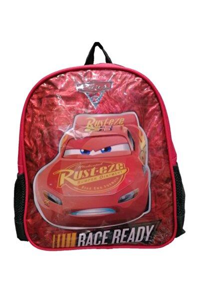 CARS Erkek Çocuk Kırmızı Lisanslı Kreş Ana Okulu Ve Günlük Kullanım Sırt Çantası