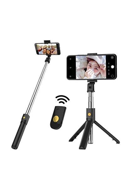 zabata Kumandalı Bluetooth Selfie Çubuğu Tripod Kablosuz Monopod Stick