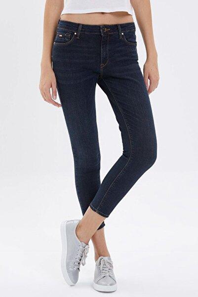 Loft Kadın Lacivert Skinny Fit Taşlı Jeans