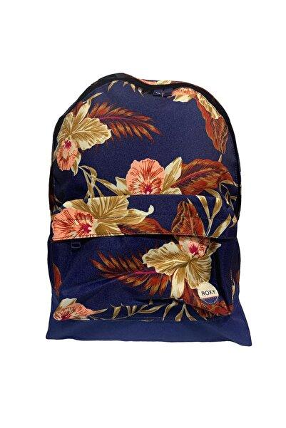 Roxy Unisex Lacivert Çiçek Desenli Çanta