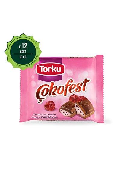 Torku Çokofest Frambuazlı 60 gr X12