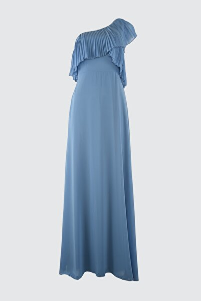 TRENDYOLMİLLA Mavi Kol Detaylı Abiye & Mezuniyet Elbisesi TPRSS21AE0002