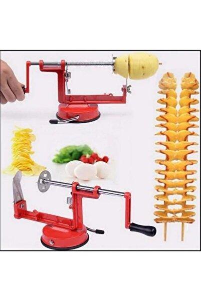FırsatYeri Spiral Patates Dilimleyici Pratik Patates Dilimleme Makinesi