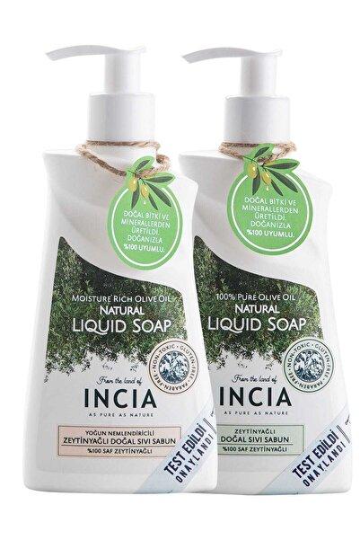 Incia Doğal Zeytinyağlı Sıvı Sabun 250 ml + Yoğun Nemlendiricili Sıvı Sabun 250 ml