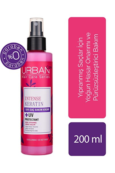 Urban Care Yoğunlaştırılmış Keratin İçeren Onarıcı & Pürüzsüzleştirici Sıvı Saç Kremi 200 ml 8680690700798