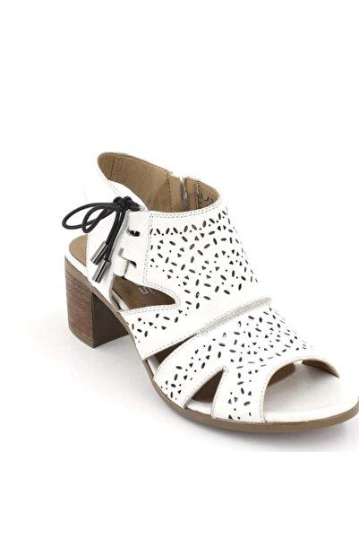 Venüs Deri  Beyaz Topuklu Sandalet 1857204