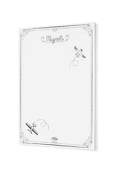 The Mia Magnet Panosu Beyaz - 70 X 50 Cm