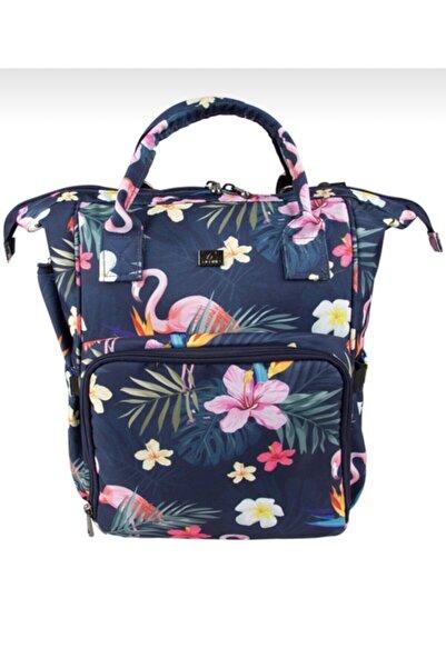 Alone Anne Bebek Termal Bakım Çantası Alt Açma Hediyeli Flamingo Desen 9305
