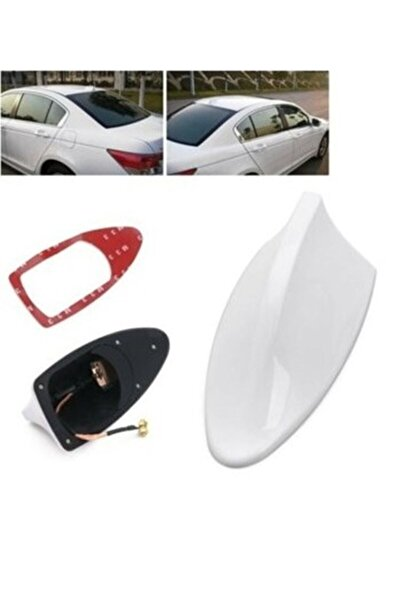 Unikum Fiat Egea Sedan Sonrası Elektrikli Shark Köpek Balığı Anten Beyaz Balina Tavan Anteni