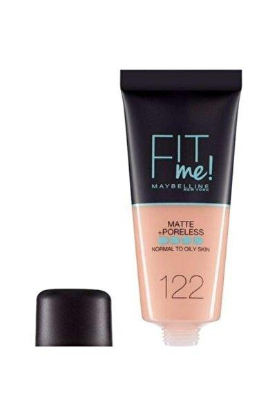 Maybelline New York Mat Fondöten - Fit Me Matte + Poreless Foundation No: 122