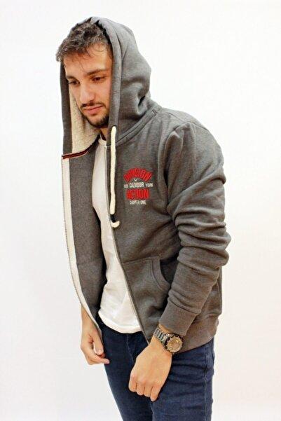 Cazador Erkek Antrasit Kapüşonlu  3 Iplik Sweatshirt