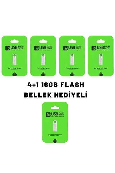 POWERWAY 4 Adet 16 Gb Metal Usb Flash Bellek +16 Gb Metal Flash Bellek Hediyeli (4+1)