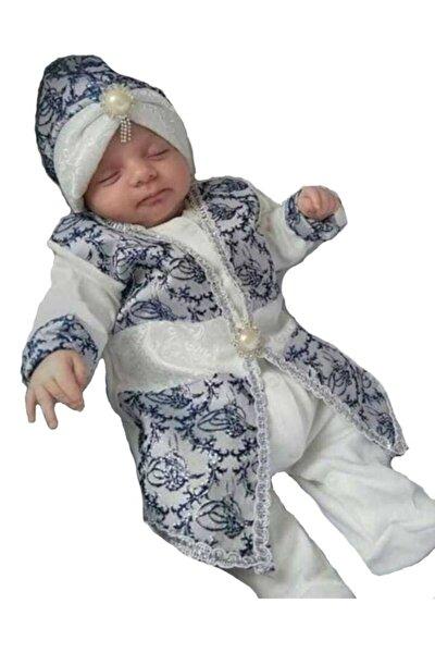 bebegen Tuğra Laci Gümüş Şehzade Erkek Bebek Mevlüt Takımı