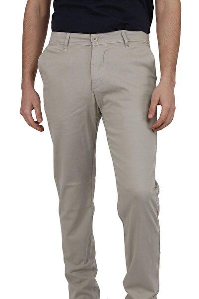 Canelia Erkek Açık Yeşil Kanvas Slimfit Yan Cep Pantolon