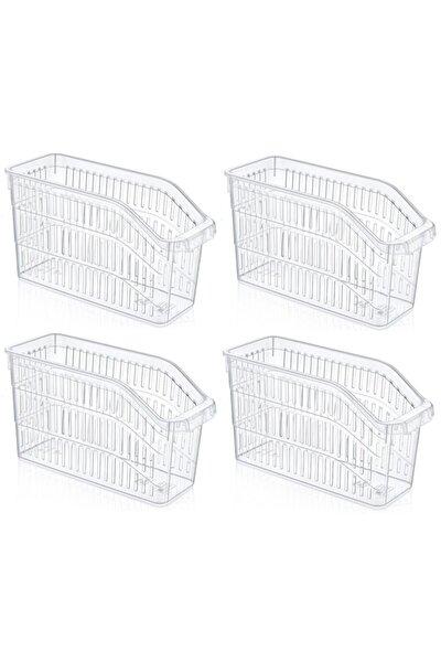 Fevito Buzdolabı Sepeti Dolap Içi Düzenleyici Sepet Organizer Şeffaf 4 Adet 30x17x16
