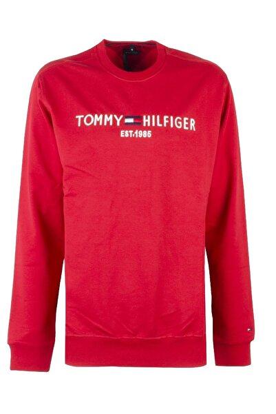 Tommy Hilfiger Erkek Kırmızı Uzun Kol Sweatshirt Mw0mw11596